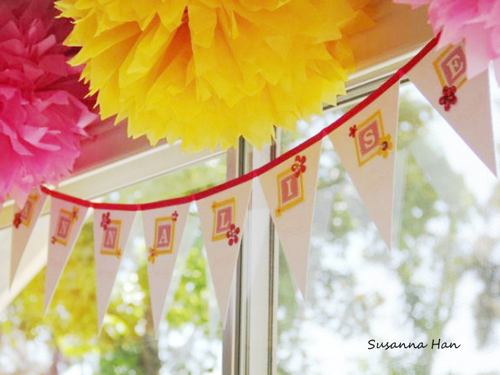 the theme was pink and yellow such adorable colors which reminds me
